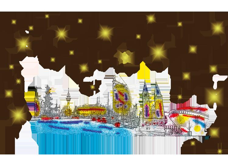 Weihnachtskarten Deutschland.Kiel Weihnachtskarten Mit Sehenswürdigkeiten Deutschlands