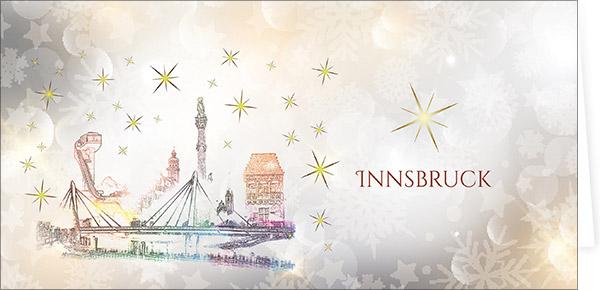 Innsbruck - Weihnachtskarten mit Sehenswürdigkeiten Österreichs