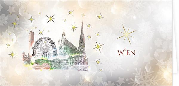 Wien - Weihnachtskarten mit Sehenswürdigkeiten Österreichs
