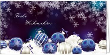 Weihnachtskarten 2017 weihnachtskarten blau - Blaue christbaumkugeln ...