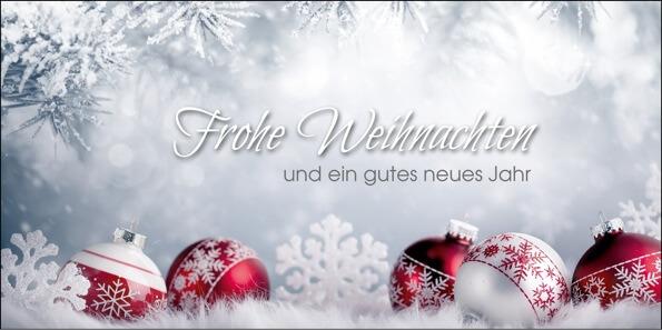 Standard Weihnachtsgrüße.2019 Für Firmen Kategorie Silberne Impressionen Motiv