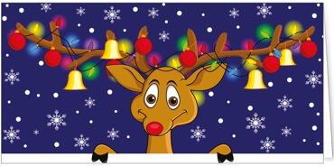 Weihnachtskarten Motive.Humor