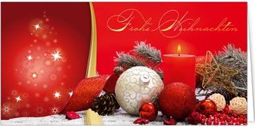Rote Weihnachtskarten.Rote Impressionen