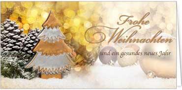 Winterliche Weihnachtsgrüße.Goldene Weihnachtsgrüße