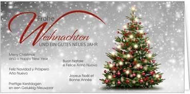 Persönliche Weihnachtsgrüße.Internationale Grüße