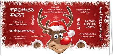 Weihnachtskarten mit Spezialveredelung