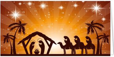 Adventkalenderkarten - Moderne weihnachtskarten ...