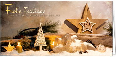 Religiöse Weihnachtskarten.Fotoimpressionen