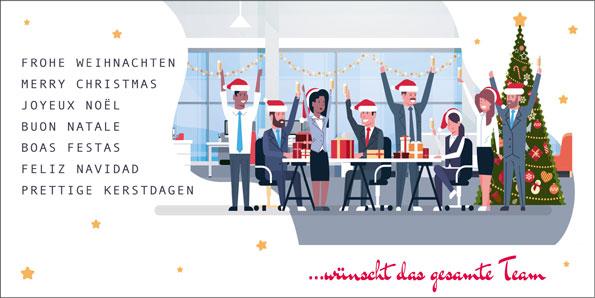 Weihnachtskarten Büro.2019 Für Firmen Kategorie Vom Team Motiv Weihnachten Im