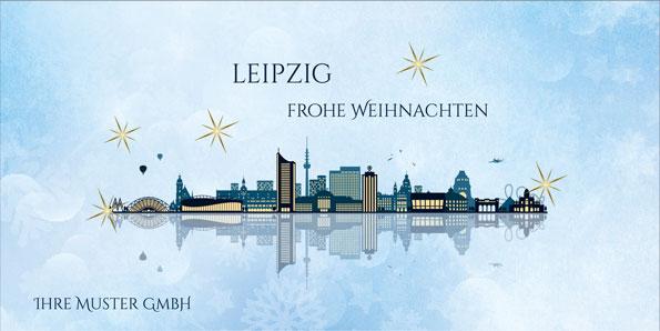 Weihnachten Leipzig 2019.2019 Für Firmen Kategorie Städte Karten Motiv Leipzig Modern