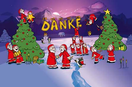 Weihnachtskarten Comic.Weihnachtspost Llustrationen Für Branchen Karten