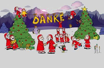 Weihnachtspost llustrationen f r branchen karten - Digitale weihnachtskarten kostenlos ...